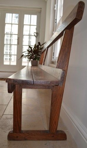 Astonishing Stunning Large Antique Oak Church Pew The Perfect Kitchen Pabps2019 Chair Design Images Pabps2019Com