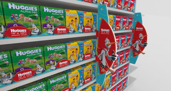 Exhibicion Huggies On Behance Pop Design Point Of Purchase Posm