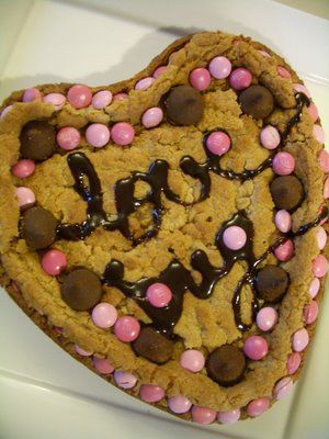Valentine's Day giant heart shaped cookie