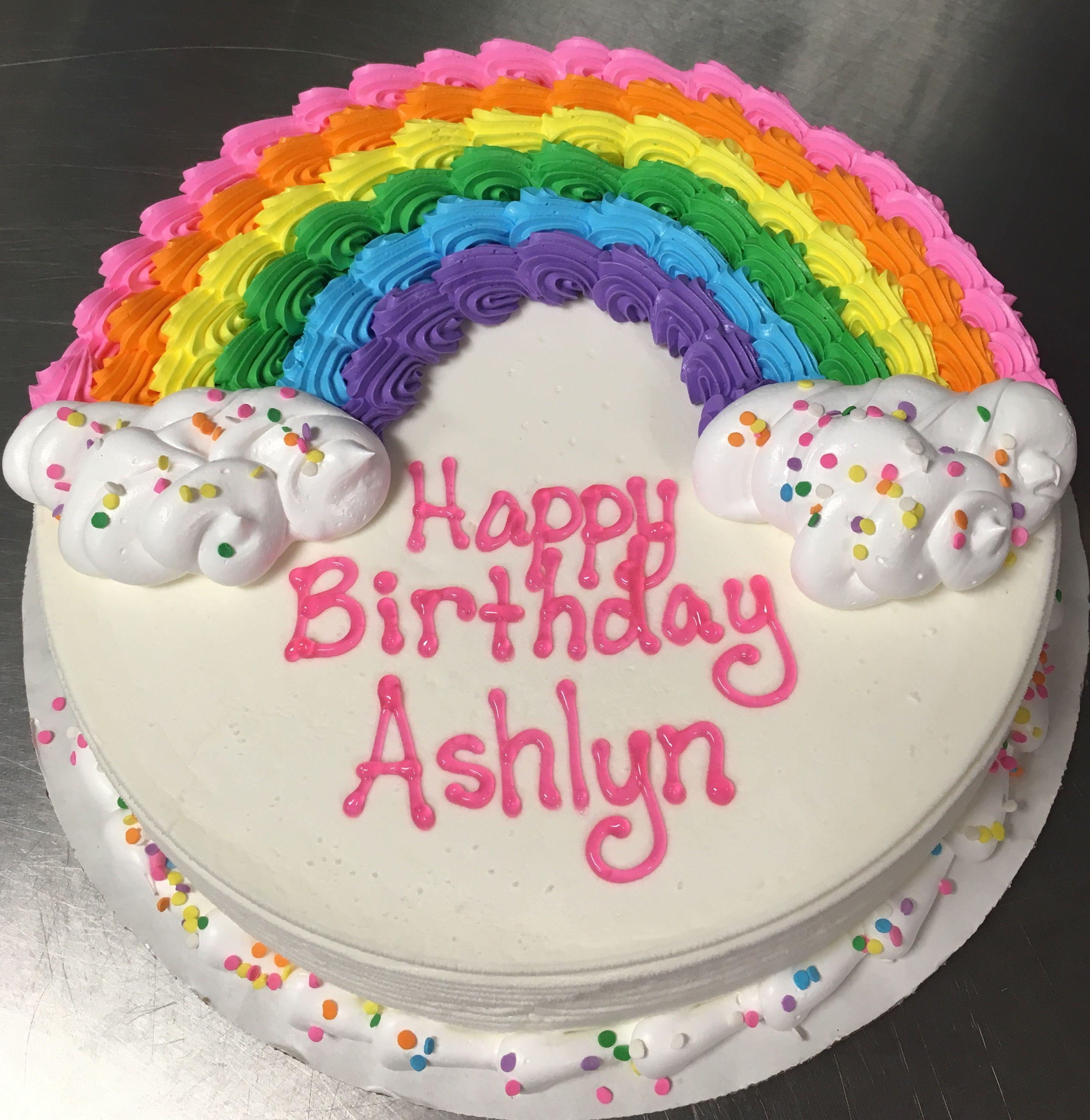 Rainbow Dq Ice Cream Cake