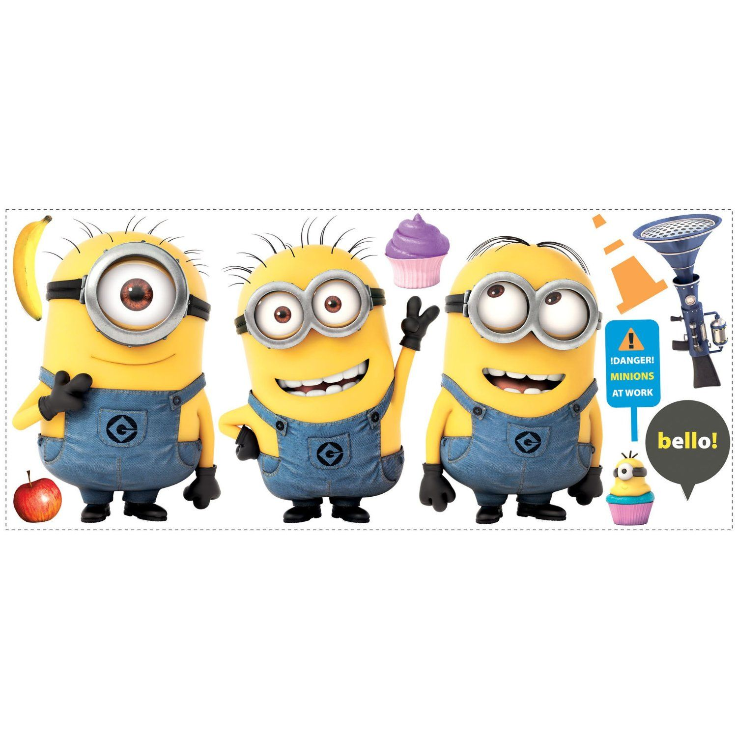 Roommates Rmk2081Gm Despicable Me 2 Minions Giant Peel And Stick