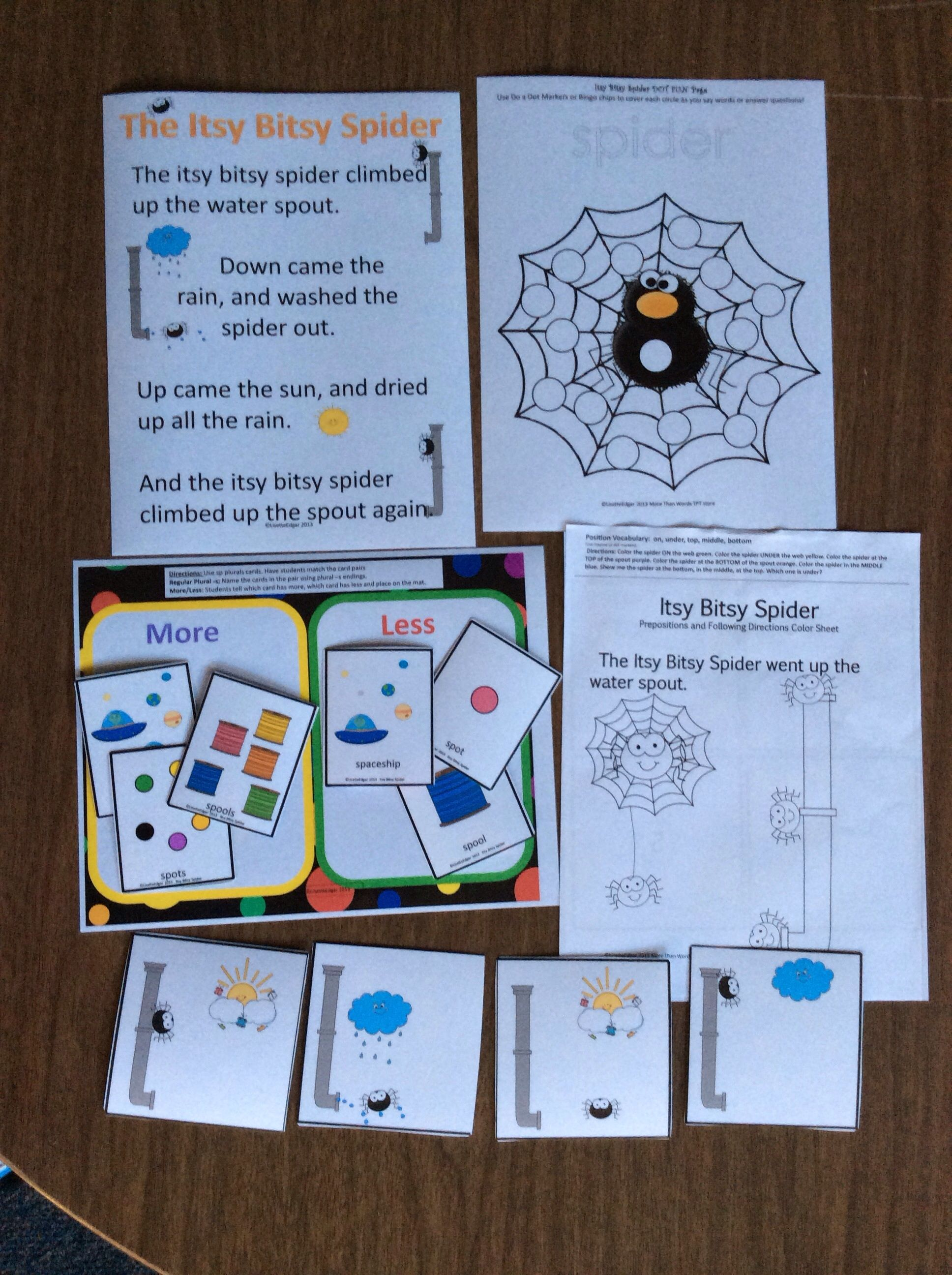 Itsy Bitsy Spider Speech Amp Language Therapy Unit