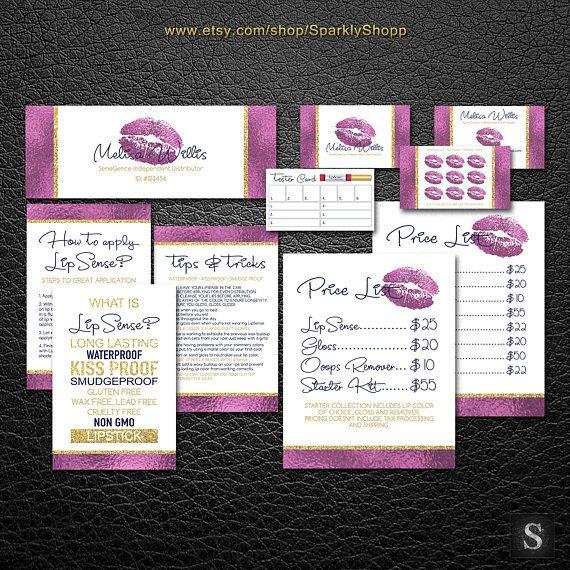 Lipsense Business Card LipSense Bundle Pack LipSense Marketing - lipsense business card