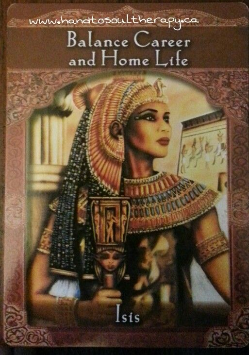 Your Ascended Master's Message comes from Isis : Balance Career and Home Life.  To find out more about this card please visit our Facebook Page. Fb/handtosoul