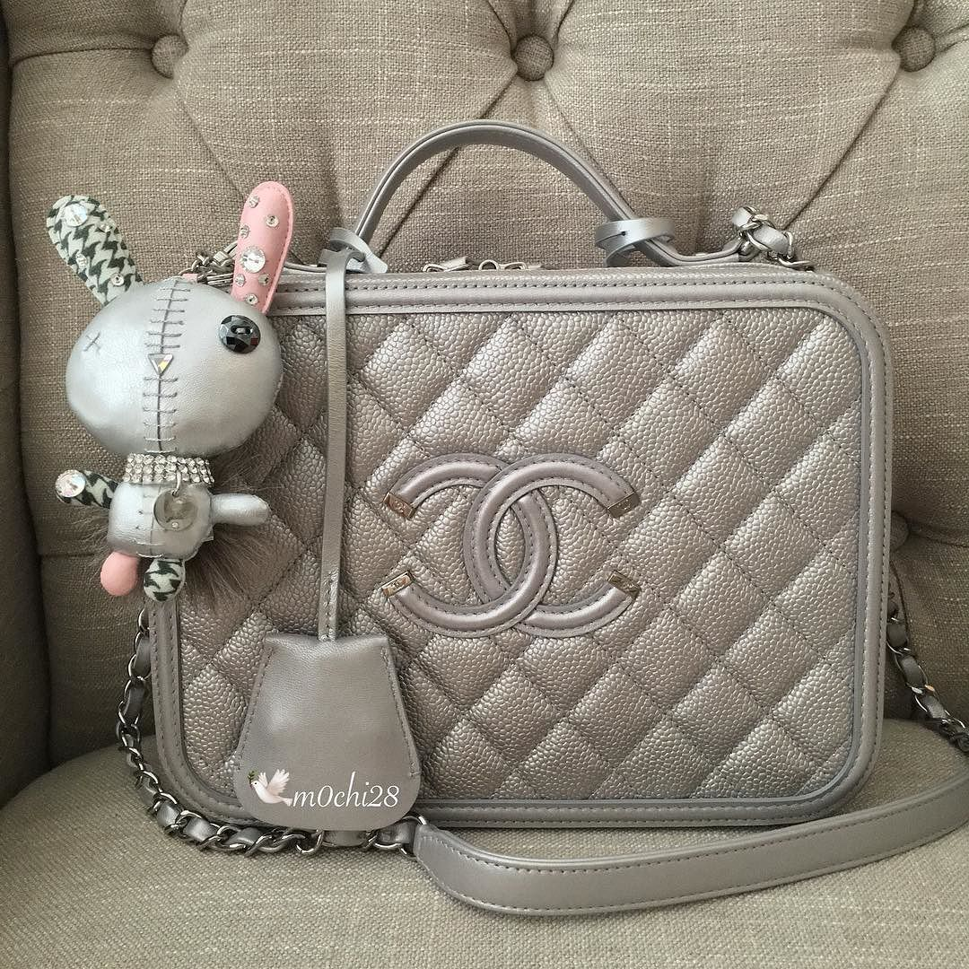 This vanity case is in silver   the  color of Chanel Spring-Summer ... a80699d972