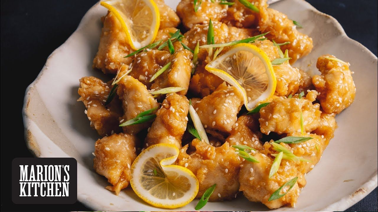 Chinese Lemon Chicken Marion S Kitchen Youtube Chinese Lemon Chicken Asian Recipes Lemon Chicken