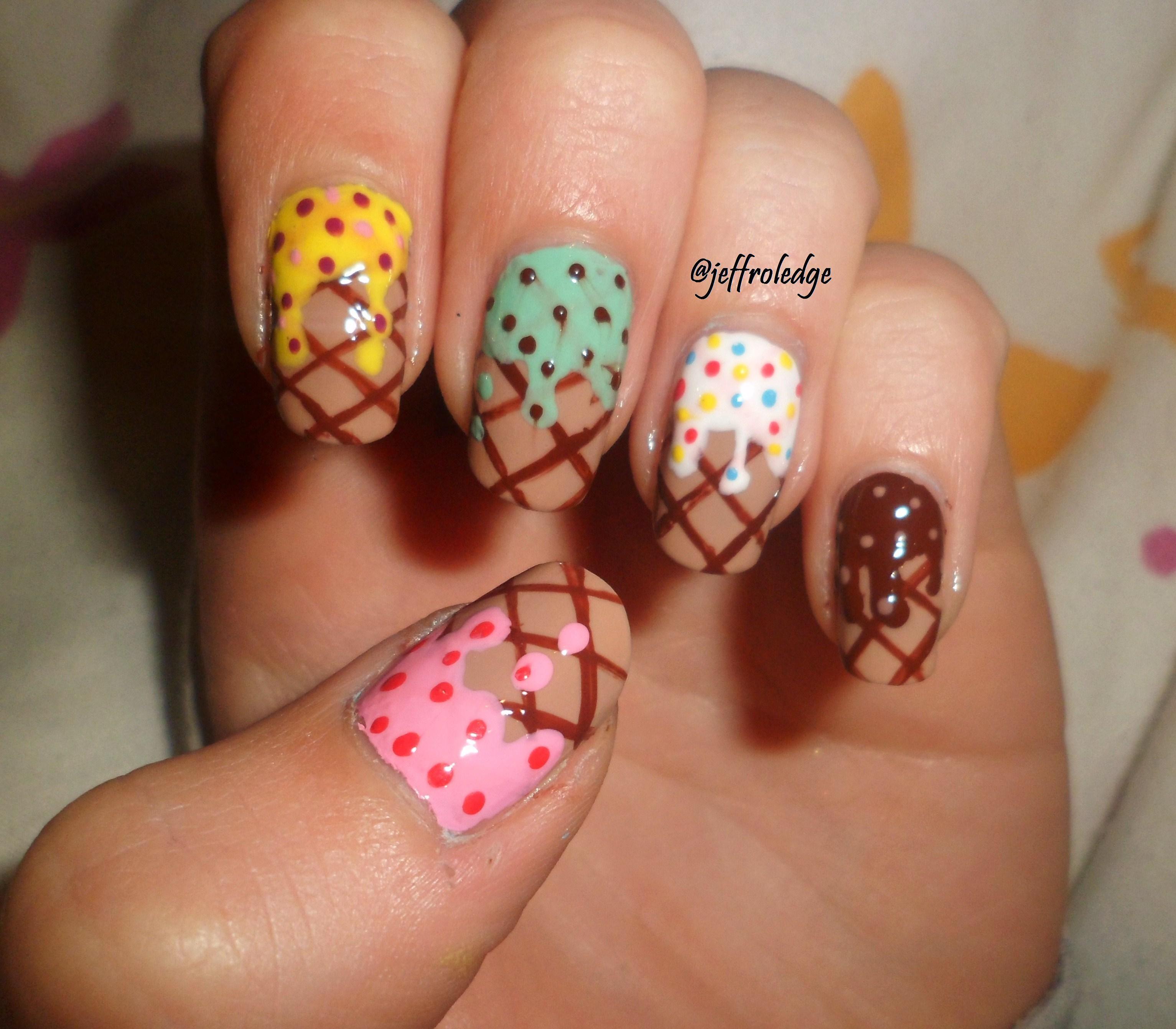 Cream Nail Art: Nail Art, Ninas Nails