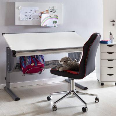 Kinderschreibtisch design höhenverstellbar  Wohnling WOHNLING Design Kinderschreibtisch MAXI Holz 120 x 60 cm ...