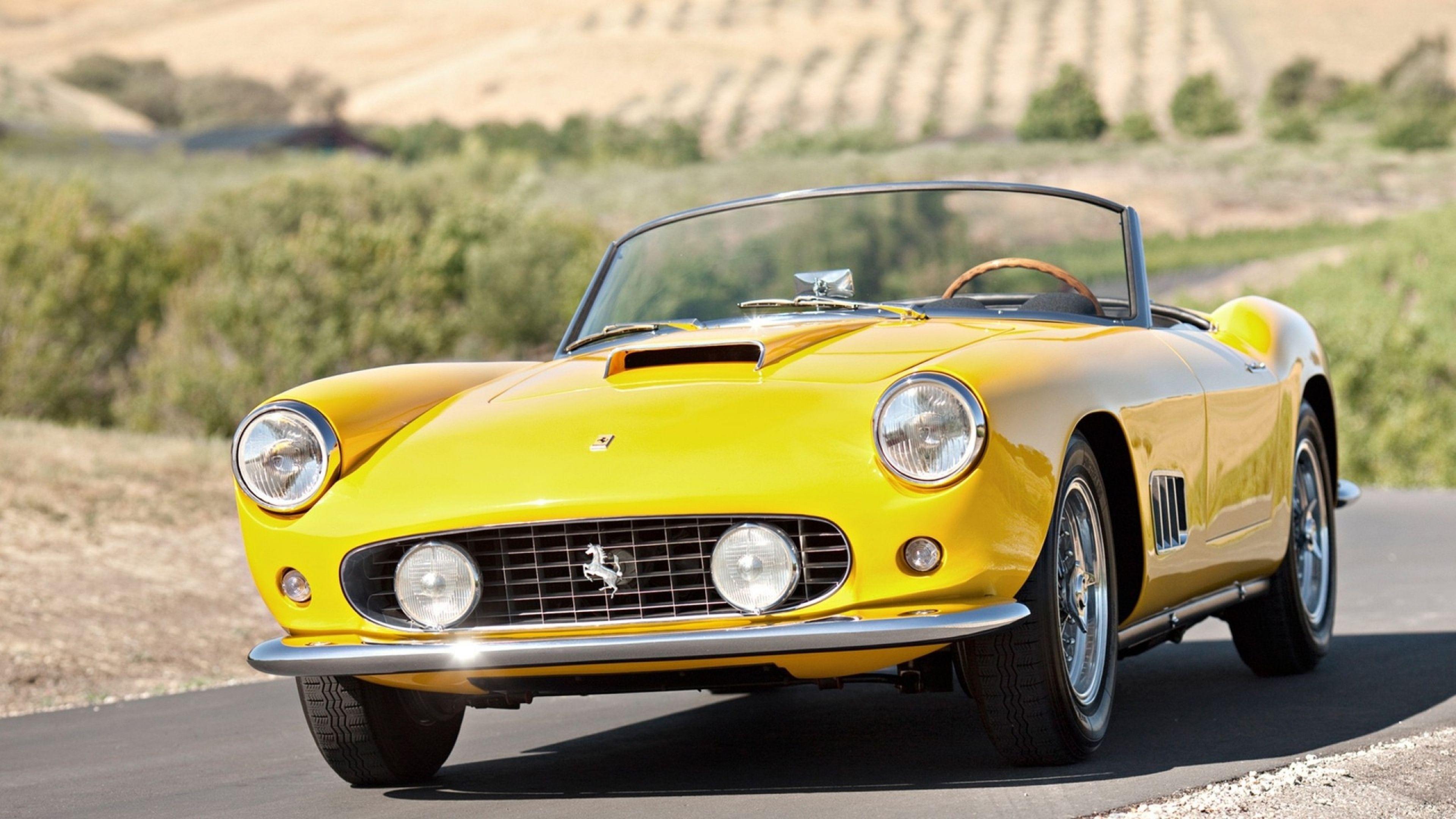 4k Ultra Hd Vintage Wallpapers Hd Desktop Backgrounds 3840x2160 Ferrari Vintage Ferrari Super Cars