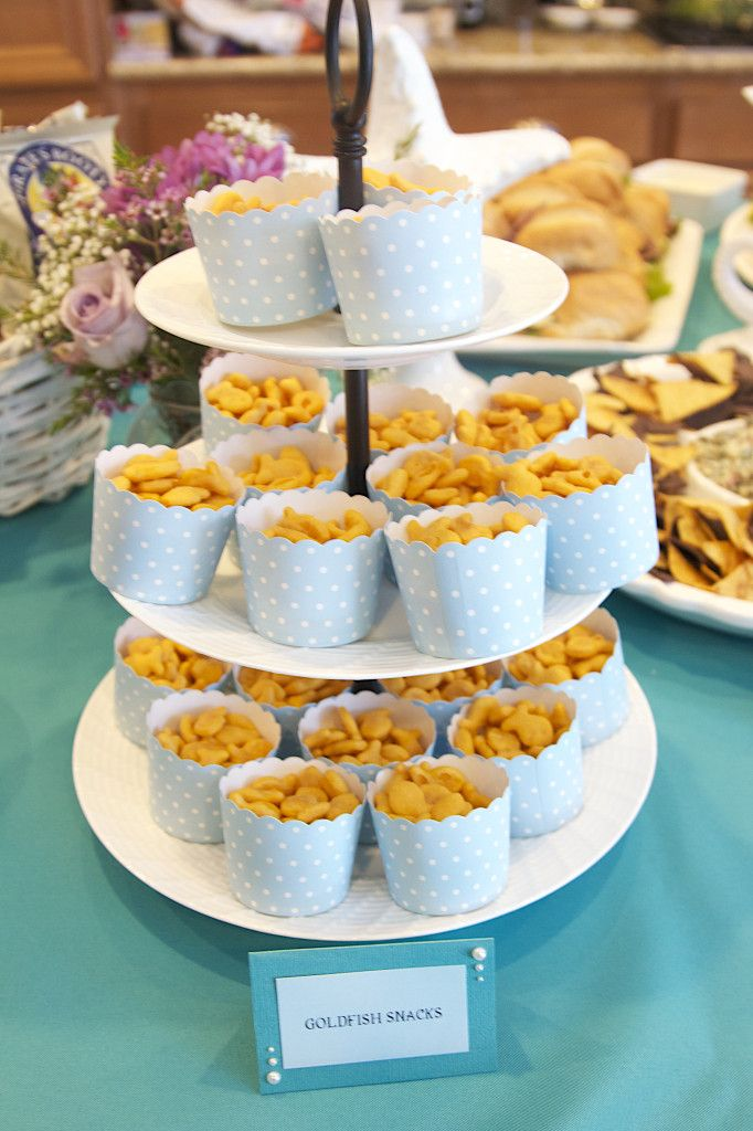 """Great party food ideas for an """"Under the Sea"""" themed party! #partyfood #kidsparty"""