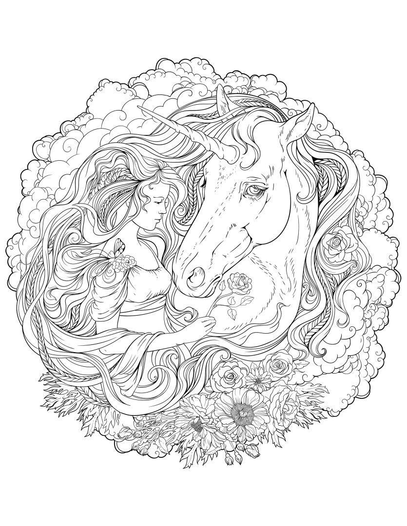 Antistress Unicorn Coloring Pages Emoji Coloring Pages Fairy Coloring Pages