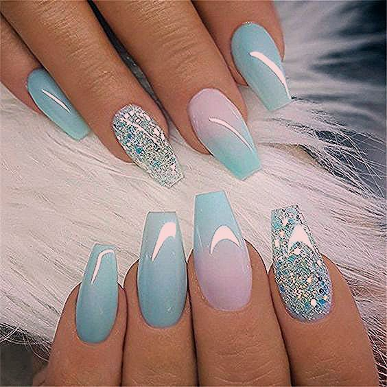 Photo of 56 Stylish Acrylic Coffin Nail Designs And Colors For Spring