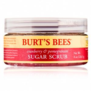 Burt's Bees Cranberry and Pomegranate Sugar Scrub at DermStore 12.99 Dive into Burt's Bees Cranberry & Pomegranate Sugar Scrub for a delectable body-smoothing experience. Cranberry seeds and pomegranate oil blend together with exfoliating sugar and shea butter to nourish and buff your skin. You will see and feel the difference as your skin glows with radiance.