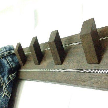Coat Rack With Zipper Inlay