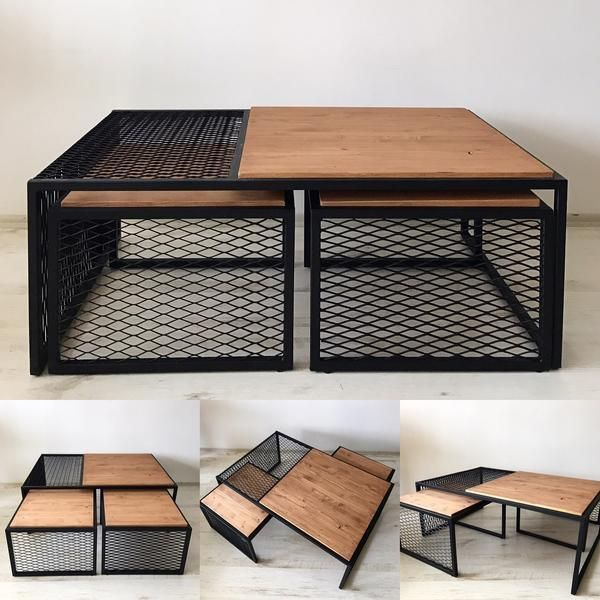 TRIP  Industrial Model three  Center espresso desk  diy is part of Loft furniture -