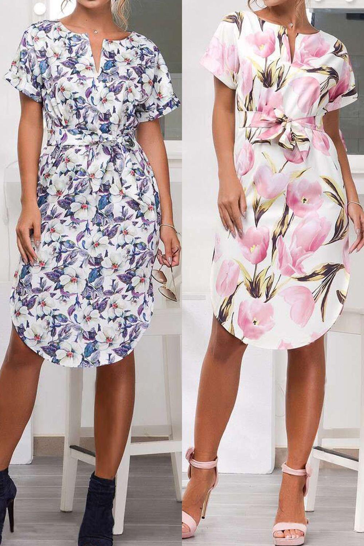 839aa4210a8 Women's Short Sleeve Floral Casual Dress, 2019 | Γυναικεία μόδα | Ruhák και  Divat