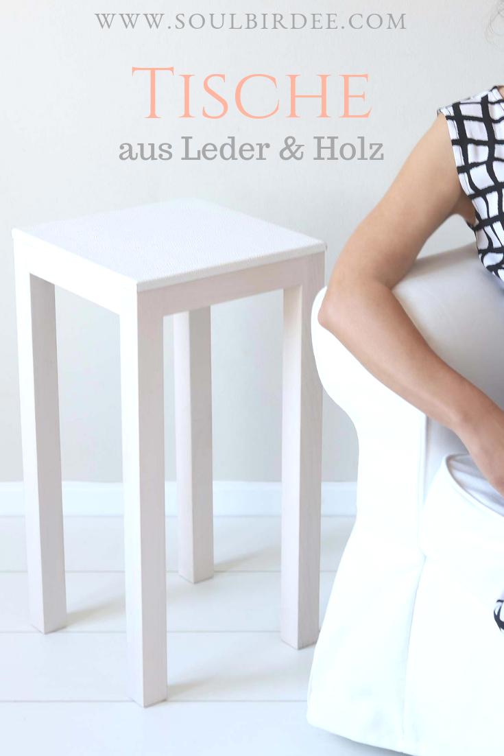 Weisser Beistelltisch Quadratischer Tisch Aus Weissem Ahorn Holz