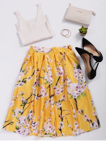 GET $50 NOW | Join RoseGal: Get YOUR $50 NOW!http://www.rosegal.com/skirts/floral-print-satin-high-waisted-1068540.html?seid=8418309rg1068540