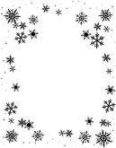 snowflake clipart | Black And White Christmas Border ...