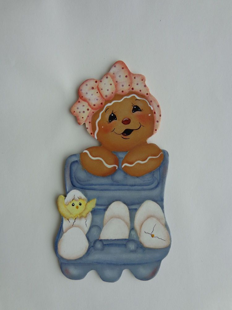 HP Gingerbread with carton of Easter eggs~Fridge Magnet