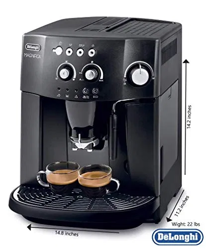 Espresso coffee machine with an adjustable grinder, milk