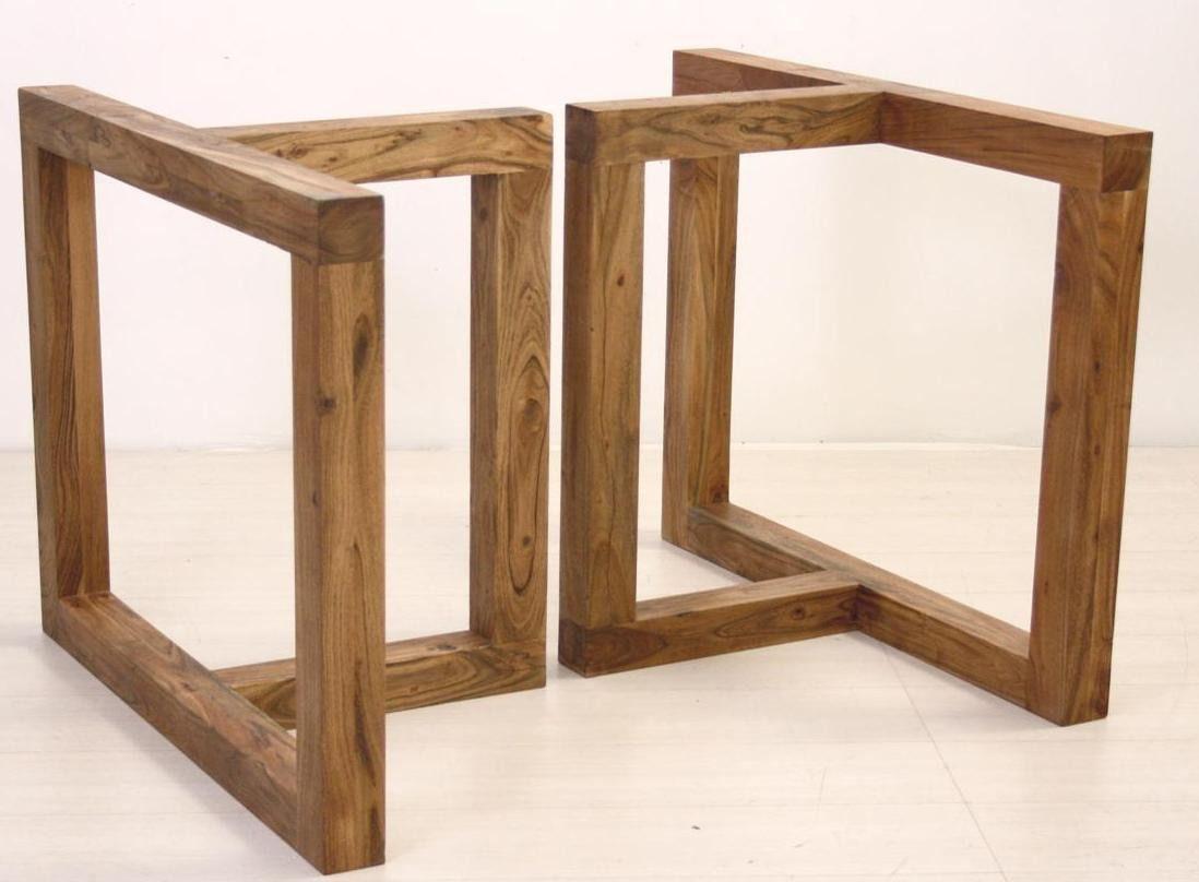 Base mesa jantar madeira modelo formale living e sala de for Modelos de mesas