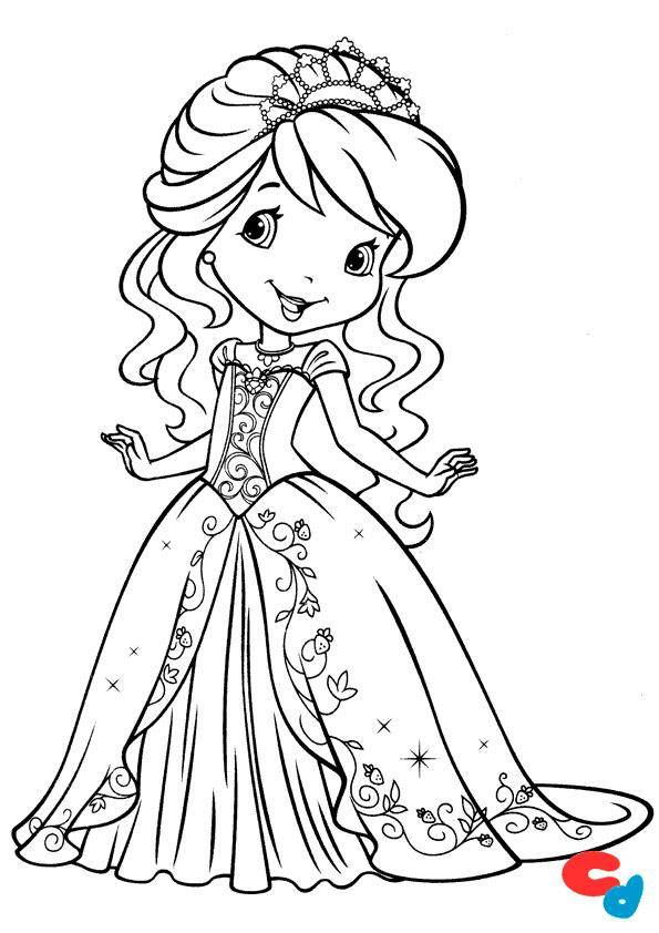 dibujo de princesa para colorear » Colorear Dibujos | Para colorear ...