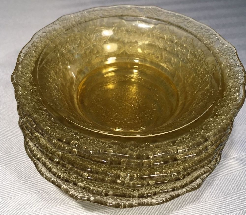 Amber Depression Glass Patterns Interesting Decorating Design