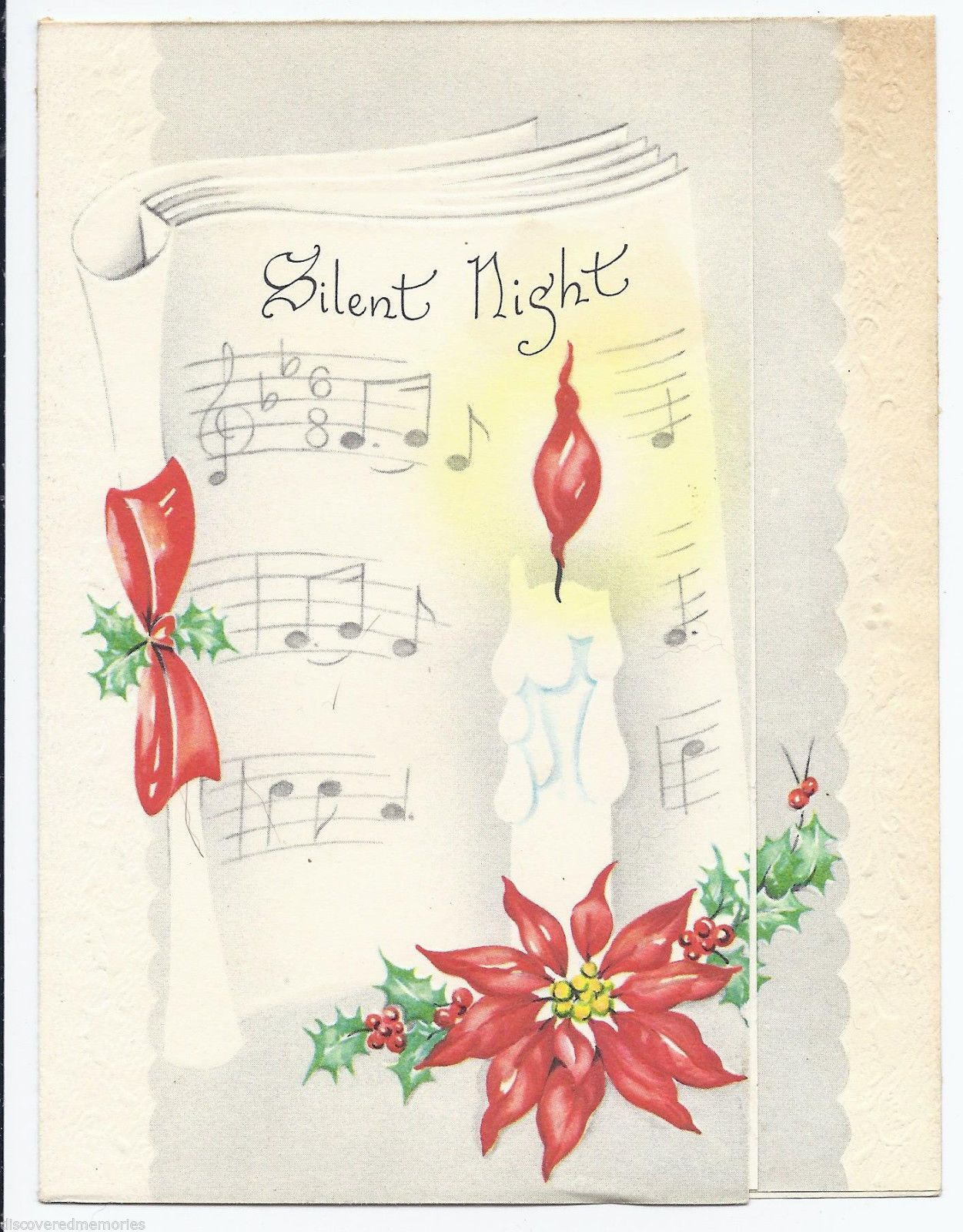 865 vintage 40s candle bright w sheet music poinsettia christmas 865 vintage 40s candle bright w sheet music poinsettia christmas greeting card ebay m4hsunfo