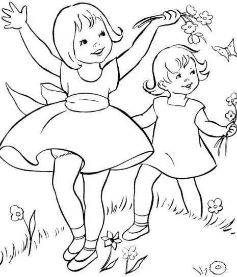 Dibujos para colorear: fotos dibujos primavera - Dibujo de niñas ...