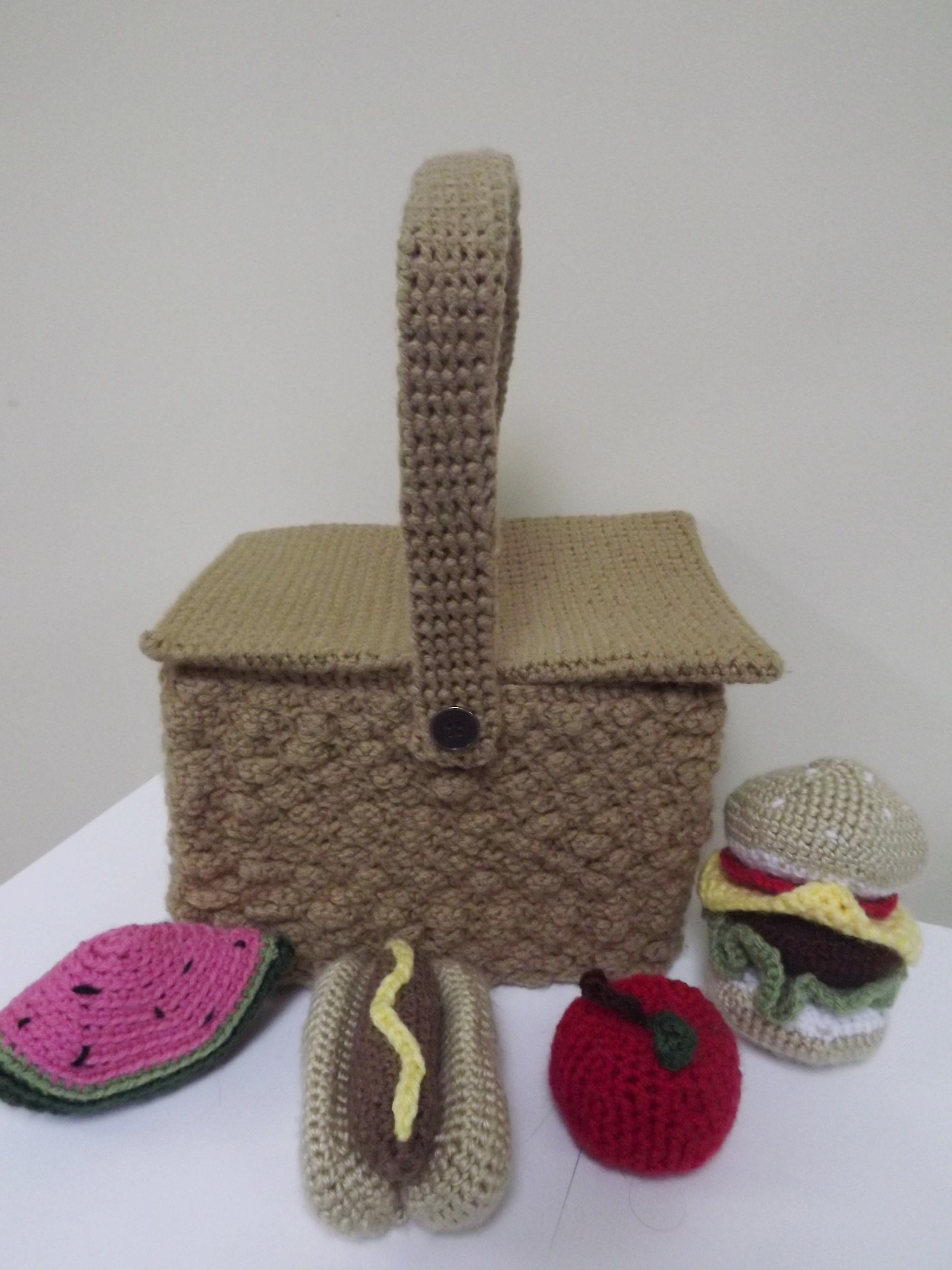 Crochet picnic basket made for my niece the pattern was purchased crochet picnic basket made for my niece the pattern was purchased on etsy crochet bankloansurffo Image collections