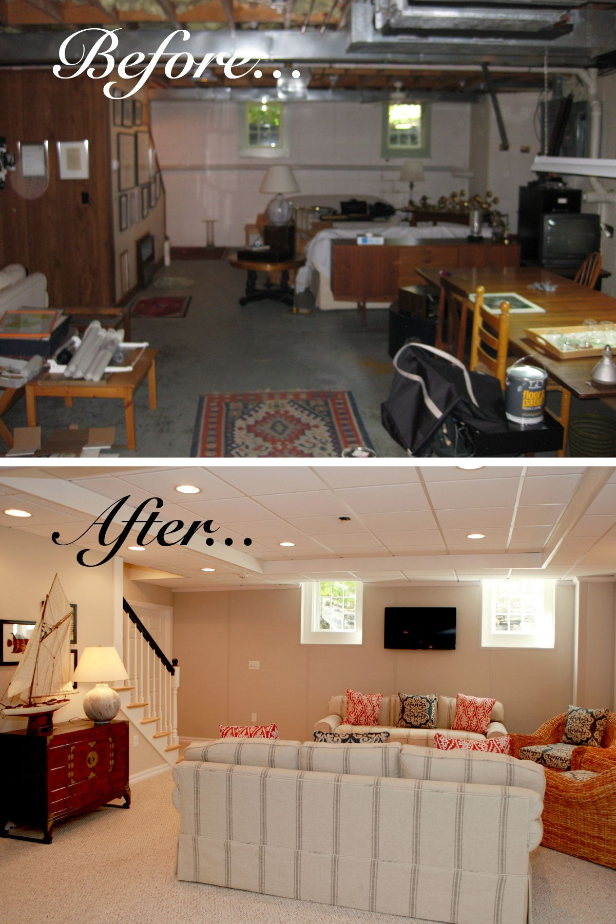 Before And After Of A Luxury Owens Corning Basement Finishing