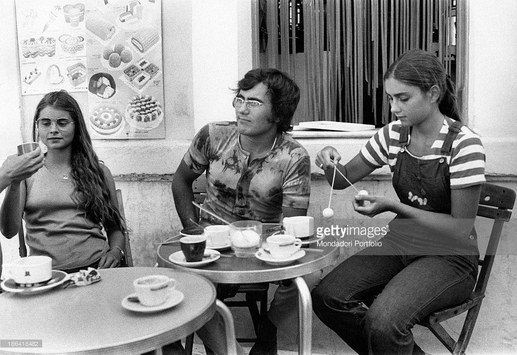 Italian Singer Al Bano Born Albano Carrisi Seated At The Table