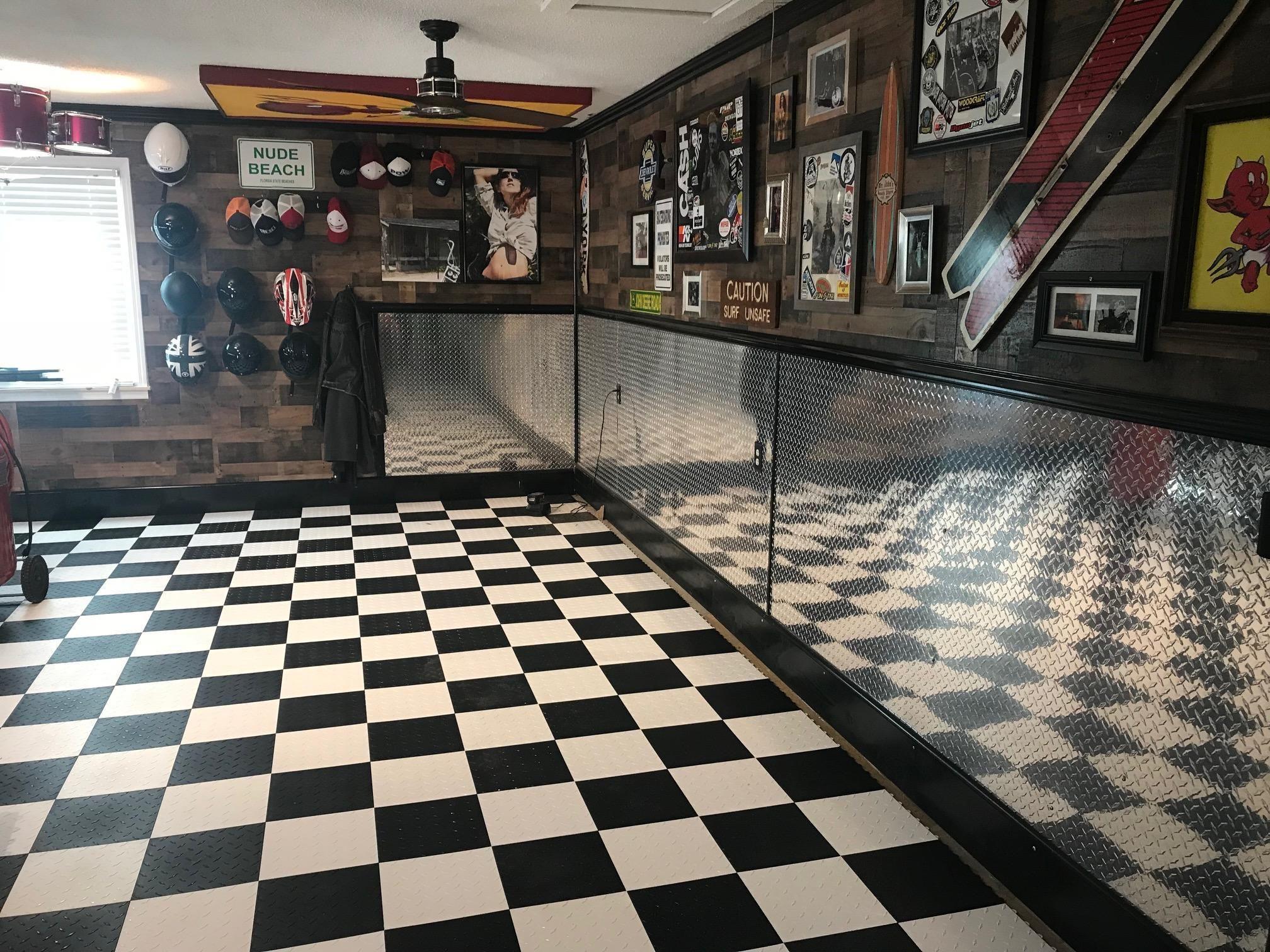 Garage Floor Tiles American Made Truelock Hd Racedeck Tile With Images Garage Floor Tile Floor Garage Floor Tiles