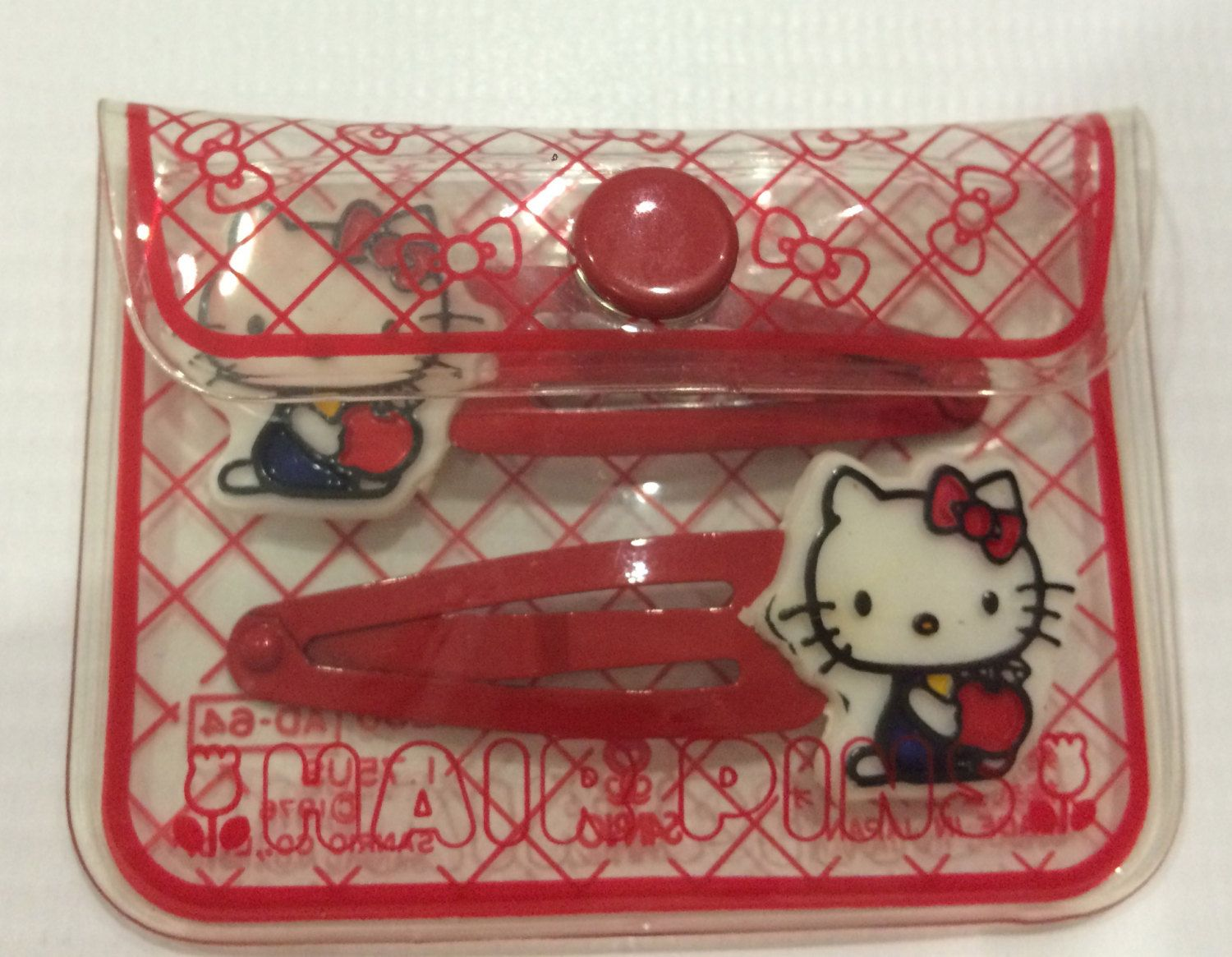 2fa273bb167 Vintage Hello Kitty Sanrio hair pins made in Japan by TownOfMemories on Etsy