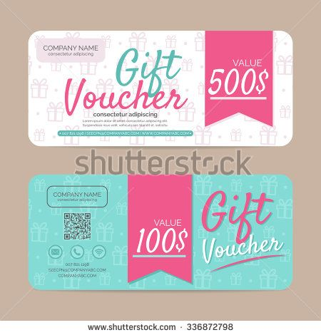 Gift voucher template , eps10 vector format - stock vector Design