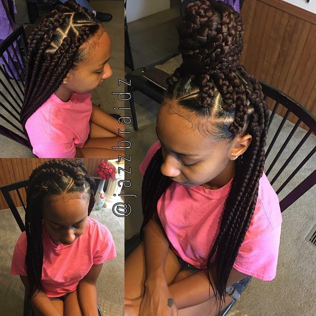 Triangle part jumbo box braids bomb hair pinterest braids