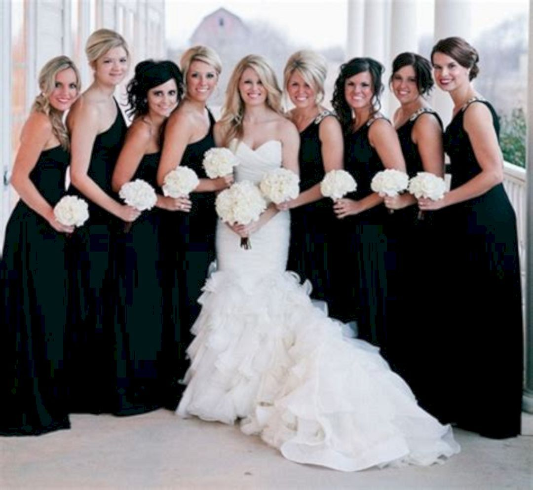 25 awesome black wedding bridesmaid dresses ideas wedding 25 awesome black wedding bridesmaid dresses ideas ombrellifo Image collections