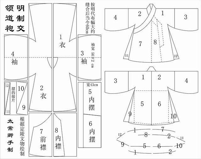 Hanfu Schnitt | Makrabar - How to | Pinterest | Chinesische kleidung ...