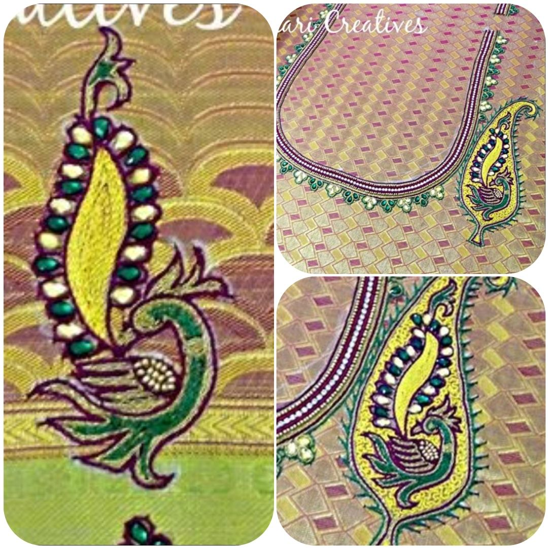 Pin by aari embroidery classes chennai on aari embroidery blouse yellow blouse saree blouse aari embroidery pattern blouse designs economic model patterns bankloansurffo Images