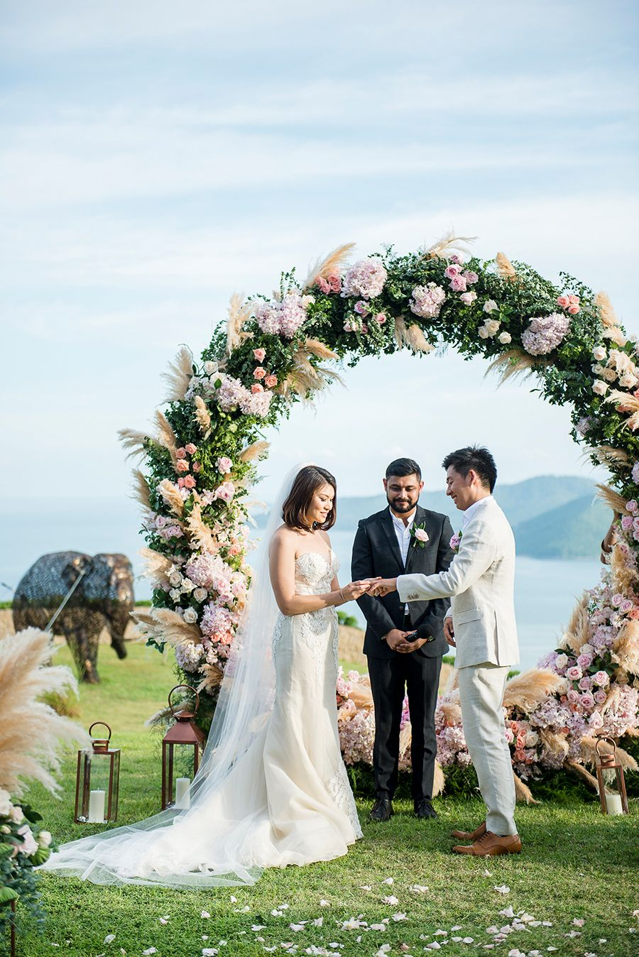 Circular Floral Arches: Why Your Wedding Ceremony Needs This New Trend |  Wedding ceremony arch, Wedding ceremony, Wedding arch