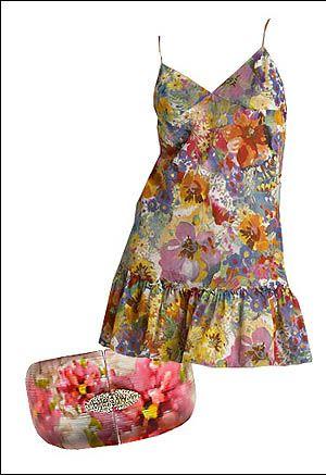 vestido floriado