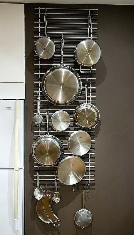 pots and pans wall racks love the idea of hanging pots and on wall hanger id=63328
