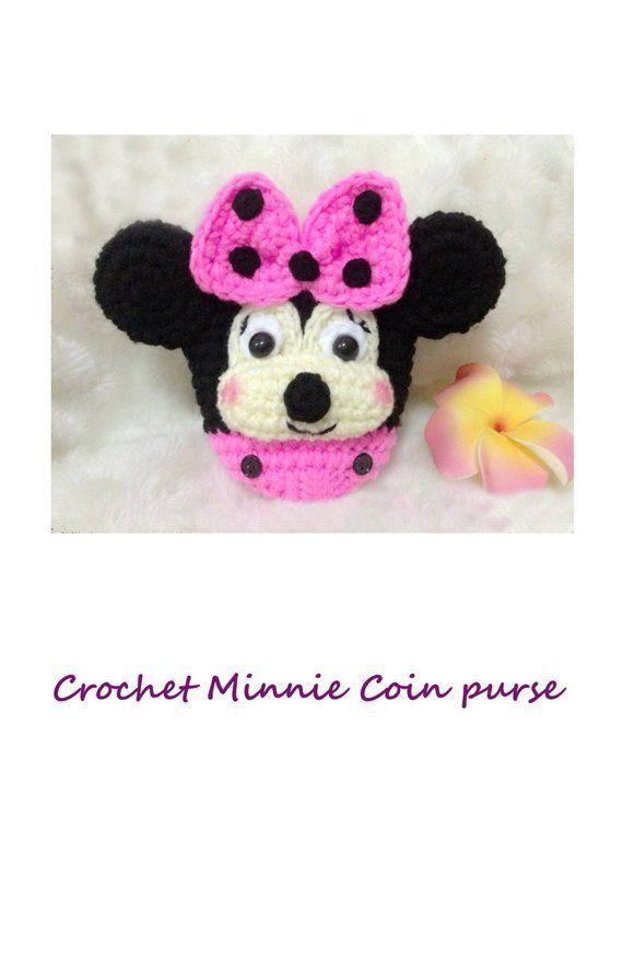 No.75 PDF Pattern Ebook Amigurumi Crochet minnie mouse disney coin ...