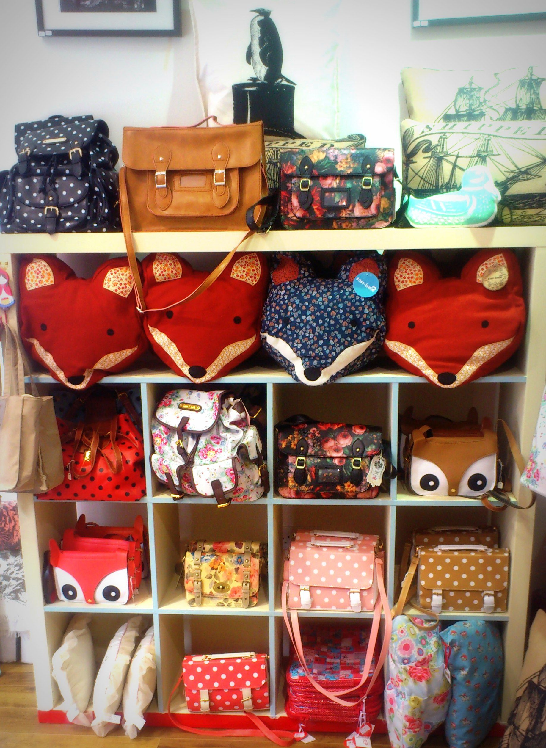 A Lovely Display In Store With Our Gorgeous Paddy And Alphie The Fox  Cushions By Sass And Belle And Also Owl Satchels And Our New Collection Of  Bags By LYDC ... Good Ideas