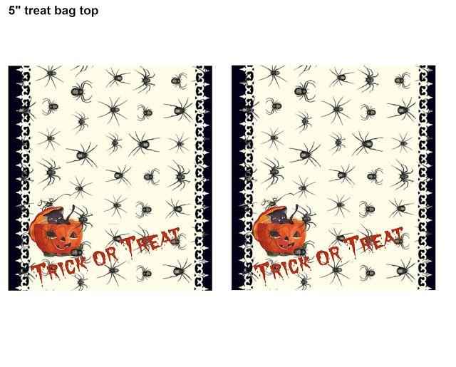 Free Halloween Printable s PrintedTreat Bag Tops Halloween is near - free halloween decorations printable