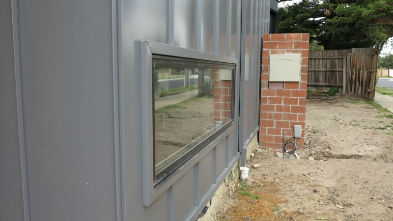 Window Detail In Nailstrip Standing Seam Wall Cladding