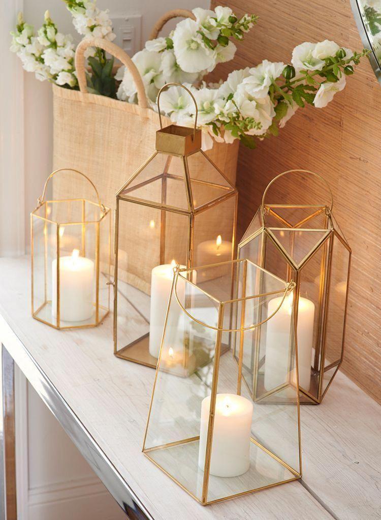 Emerald Glass Lantern In 2020 Wedding Table Centerpieces Gold Lanterns Wedding Lanterns