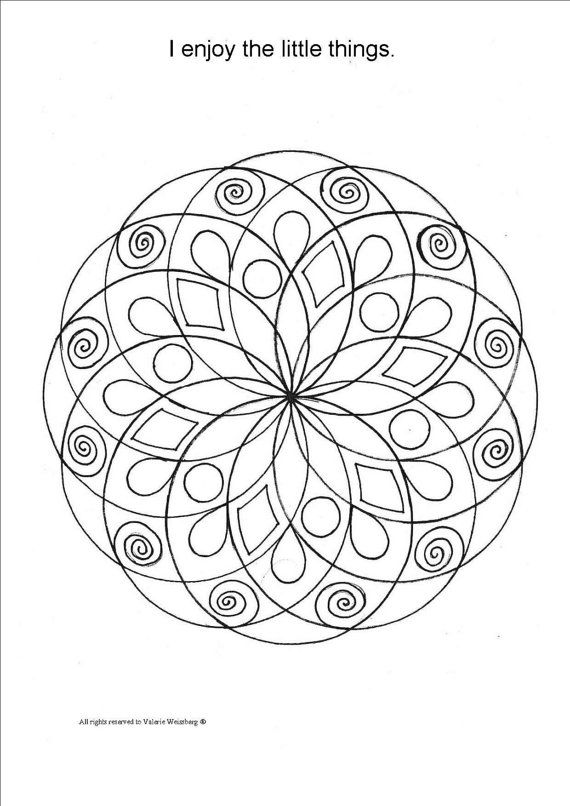 Mandala Coloring Book Art Therapy Healing By ValerieArts2014