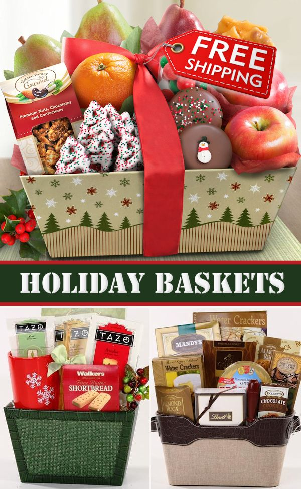 christmas holiday baskets with free shipping shop now at httpwww - Christmas Gift Baskets Free Shipping